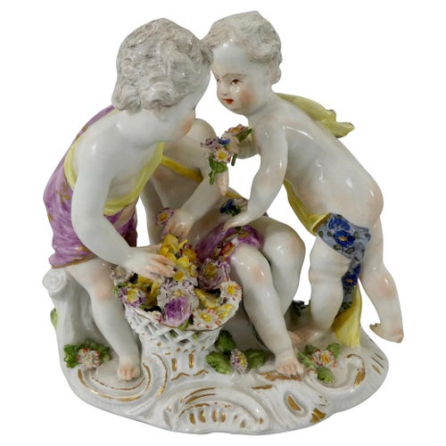 Meissen Porcelain Group of Putti, circa 1740