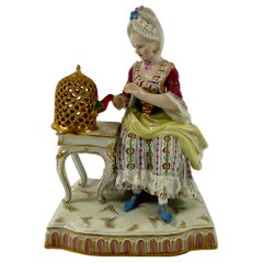 Meissen Porcelain Group, 'Touch', circa 1870