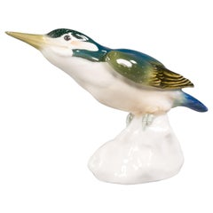 Meissen Porcelain Kingfisher Bird, circa 1910