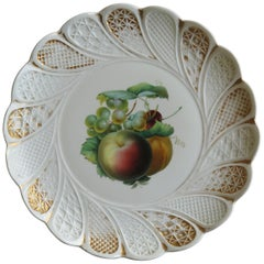 Meissen Porcelain Large Plate or Charger Hand Painted and Gilded, circa 1870