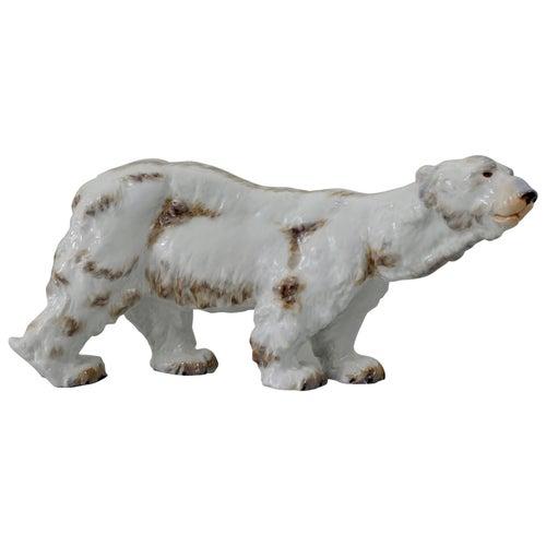 Meissen Porcelain Polar Bear, Otto Jarl, 20th Century