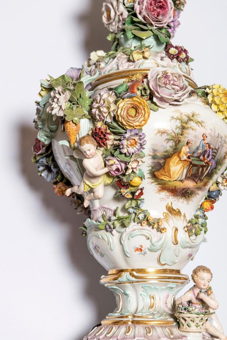 Meissen Porcelain Pot-Pourri Vase, Germany, 19th Century For Sale 1