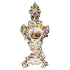 Meissen Porcelain Pot-Pourri Vase, Germany, 19th Century
