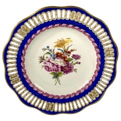 Meissen Porcelain Reticulated Plate, circa 1850