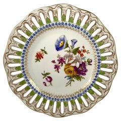 Meissen Porcelain Reticulated Plate, circa 1860