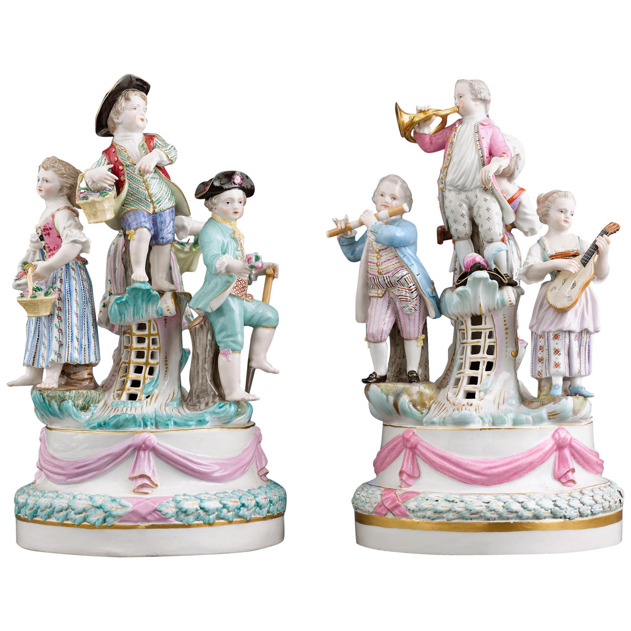 Meissen Porcelain Revelry Groups