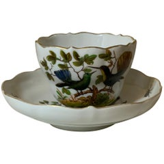 Meissen Porcelain Rothschild Pattern Birds Set of Cup And Saucer