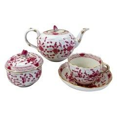 Meissen Porcelain Service Tea Purple Indian Pattern No. 343410 '12 Cups'