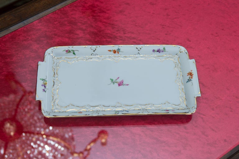 Meissen Porcelain Square Dresser Tray For Sale At 1stdibs