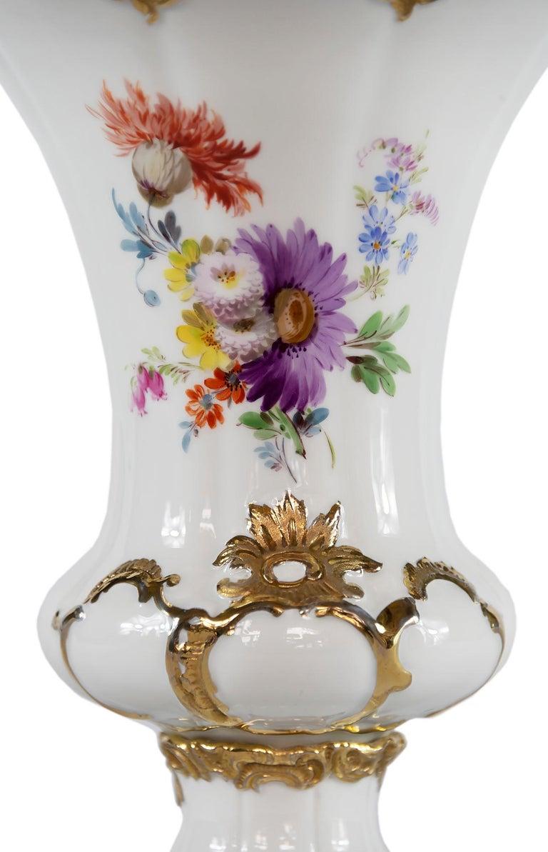 20th Century Meissen Porcelain Vase For Sale