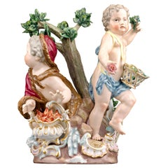 Meissen Porcelain Winter and Spring Figural Group