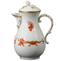 Meissen, Red Dragon, Coffee Pot