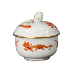 Meissen, Red Dragon, Sugar Bowl