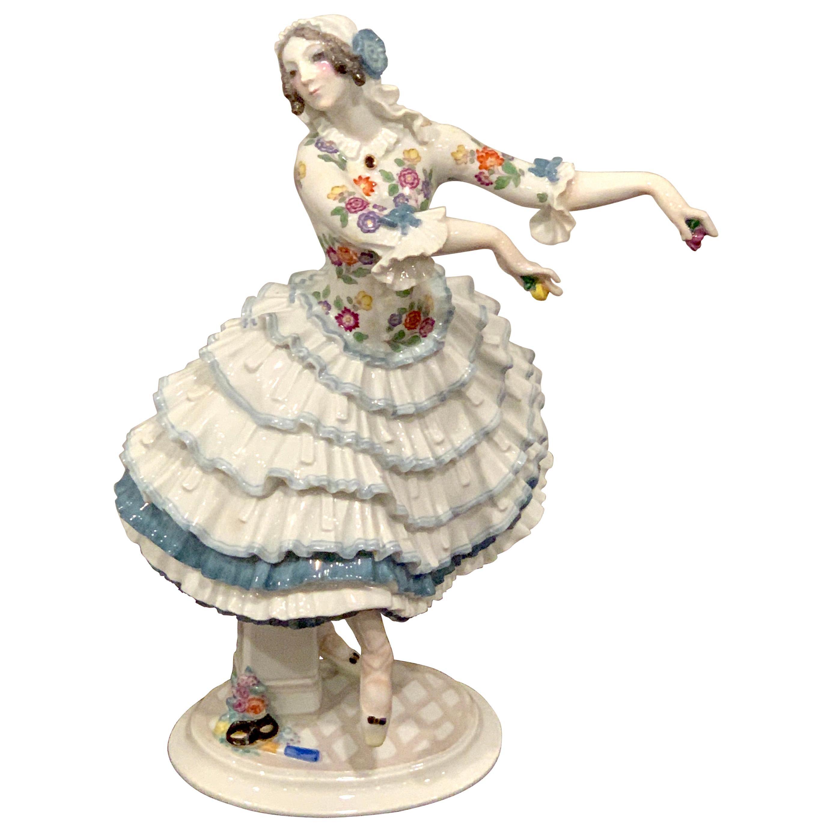 Meissen Russian Ballerina 'Chiarina', by Paul Scheurich