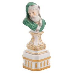 Meissen Small Bust Emblematic of Winter, circa 1750