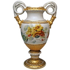 Meissen Snake Handles Vase Flowers A Made circa 1870