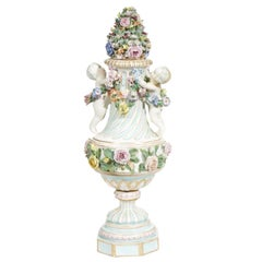 Meissen Style Covered Figural Vase, 1774-1815