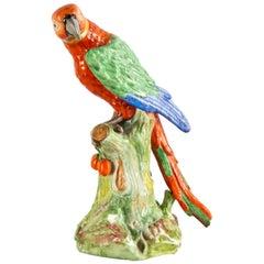 Meissen style porcelain Parrot, 19th Century