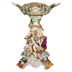 Meissen Tall Splendour Centerpiece with Cupids by Leuteritz, Around 1880