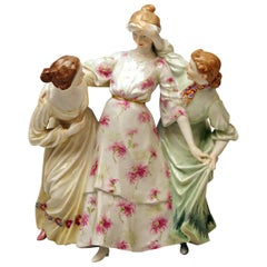 Meissen Three Girls Playing Hide and Seek by Theodore Eichler Model W 115