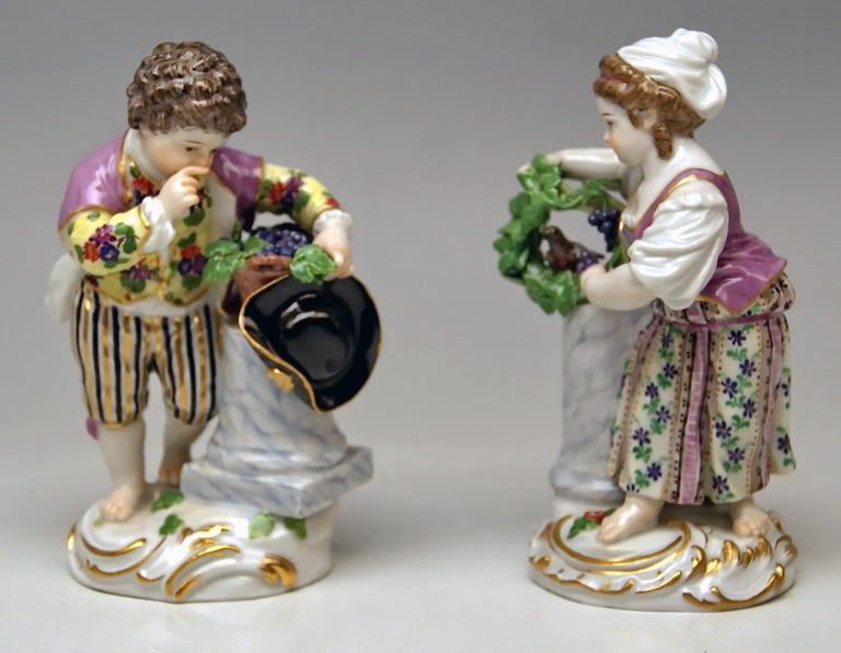 Meissen Two Children Seasons Figurines The Fall Model F 24