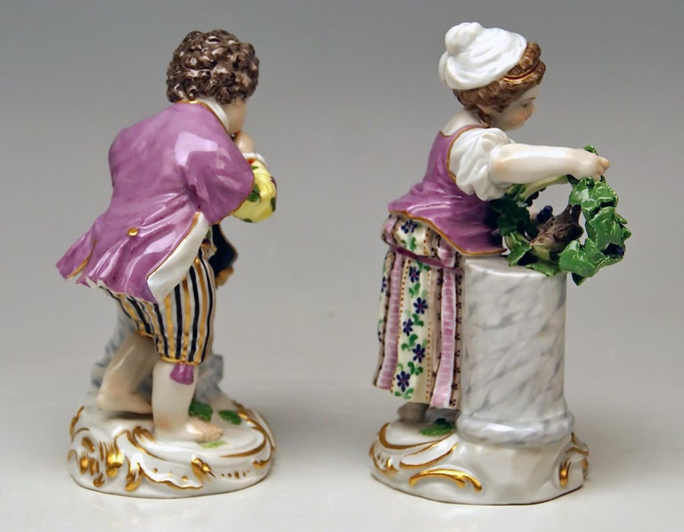 Meissen Two Children Seasons Figurines The Fall Model F 24