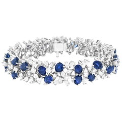 Meister Modernist Sapphire and Diamond Set Bracelet