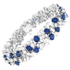 Meister Modernist Sapphire and Diamond Set Bracelet