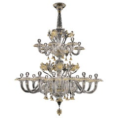 Meknes 4797 18 Chandelier in Glass, by Barovier&Toso