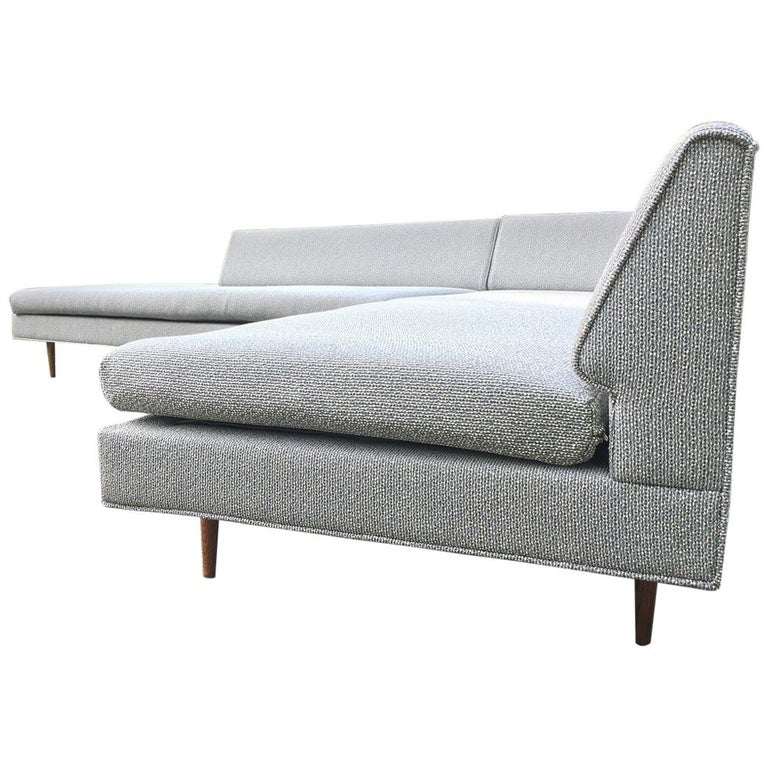 Mel Abitz For Galloway Furniture Angled Sectional Sofa For