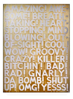 """""""Amazing"""" etched mirror limited edition print by American artist Mel Bochner"""