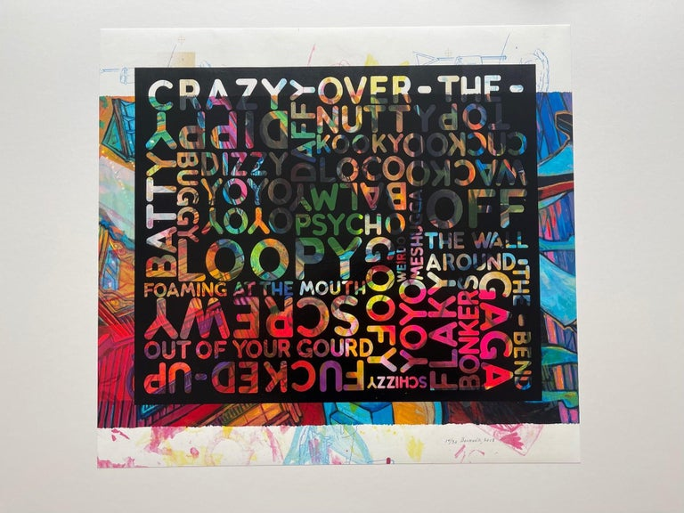 Crazy over the top (2018) (signed) - Print by Mel Bochner