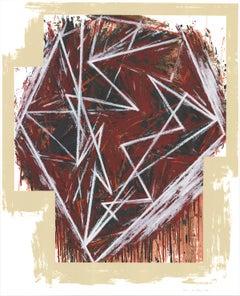 "Mel Bochner-Twenty-Five Years-45"" x 35""-Serigraph-1984-Oversize-Brown, Red"