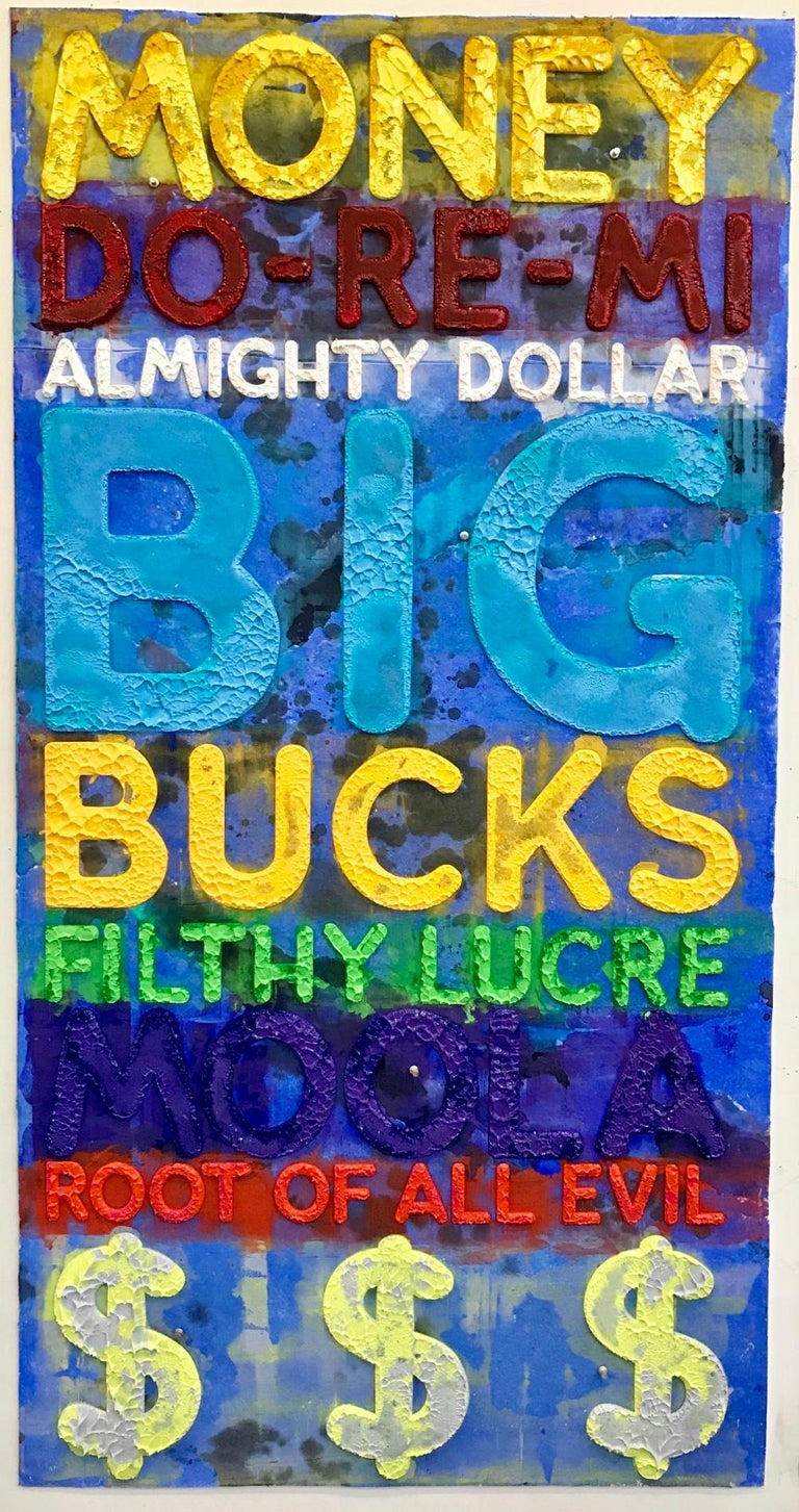 <i>Money</i>, 2020, by Mel Bochner, offered by Dean Project