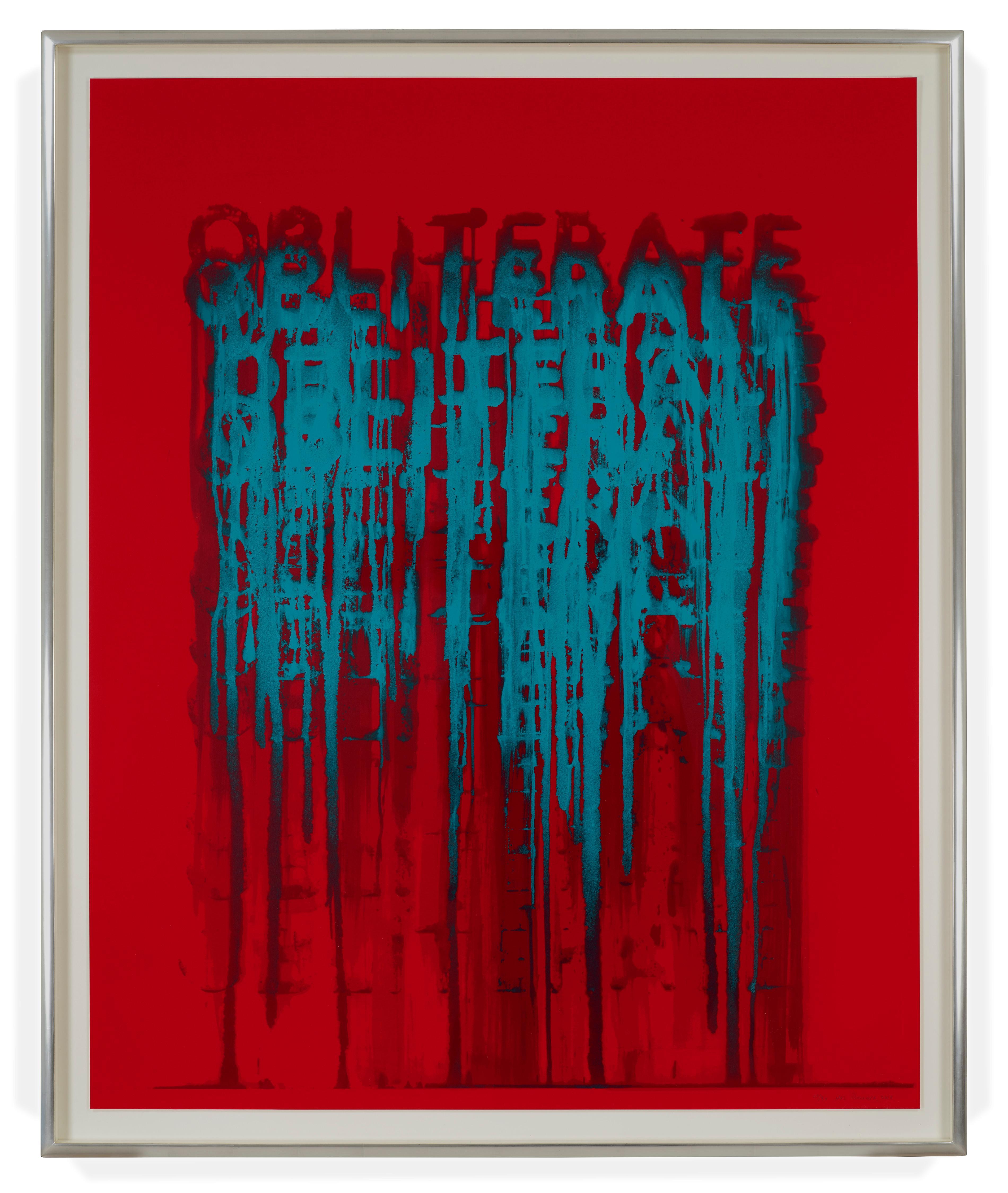 Obliterate, Limited Edition Silkscreen Print by American printmaker Mel Bochner