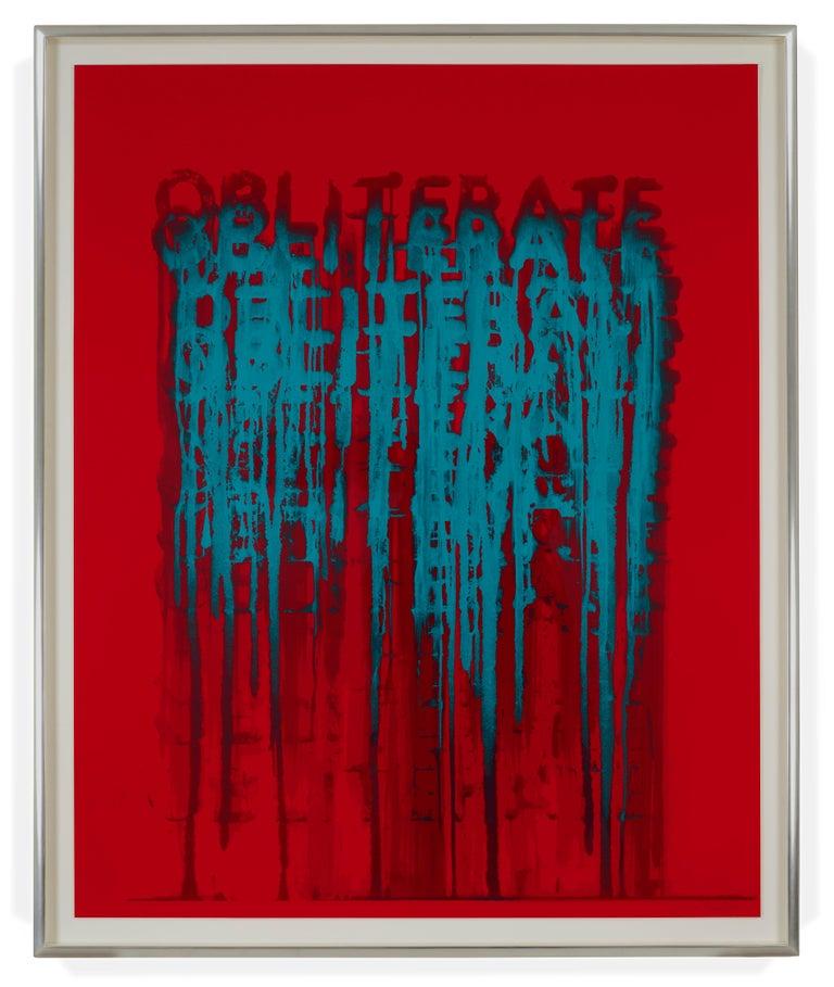 <i>Obliterate</i>, 2018, by Mel Bochner, offered by Delahunty