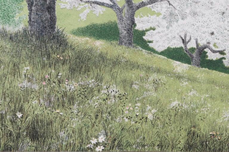 Alone Together - Gray Landscape Print by Mel Hunter