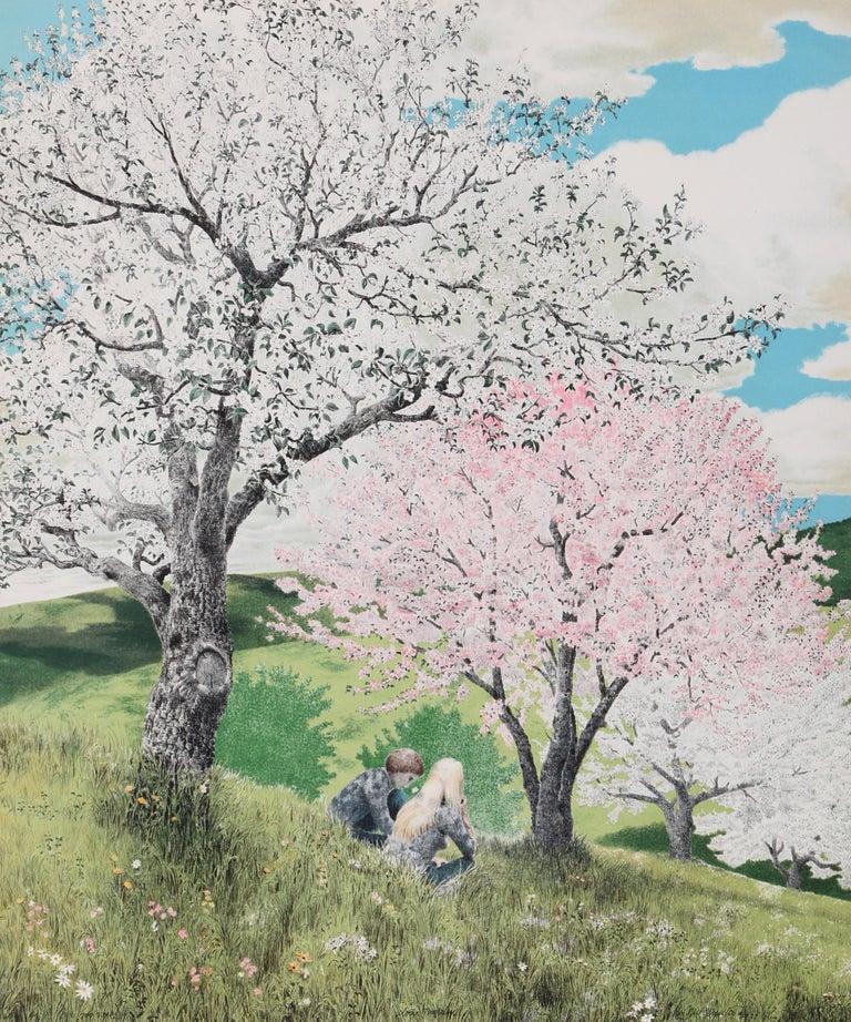 Mel Hunter Landscape Print - Alone Together