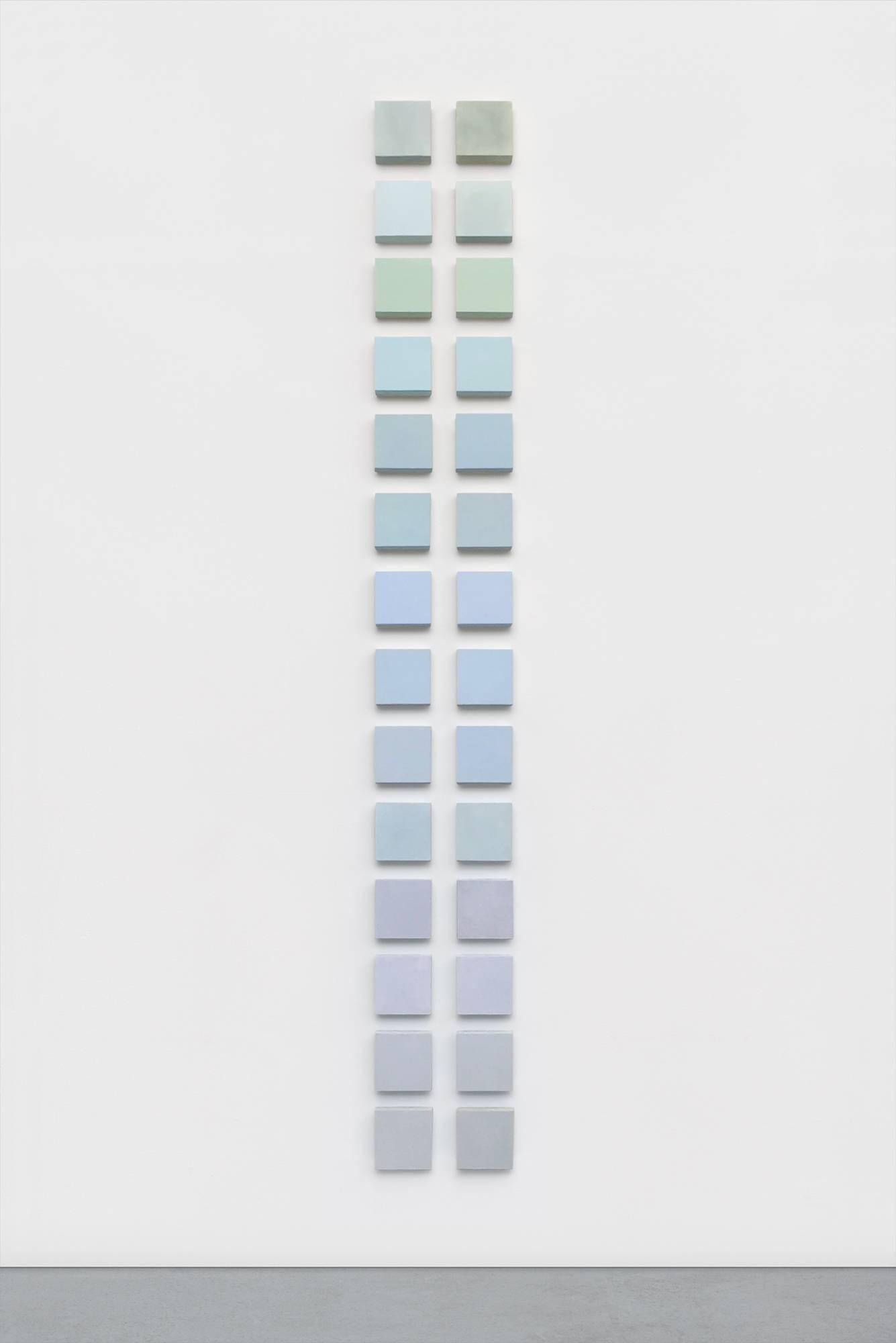 Mel Prest, Fog Trellis, 2018, acrylic paint and mica