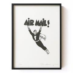 Air Mail, Framed Lithograph, 2000, American Artist, Pop Art