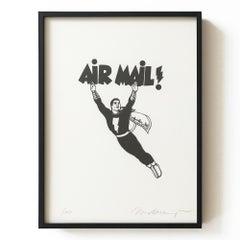 Air Mail, Framed Lithograph, 2000, Pop Art, Contemporary Art, American Artist