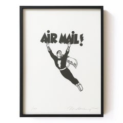 Air Mail, Lithograph, 2000, American Artist, Pop Art