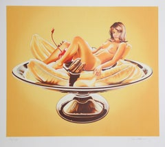 Banana Split, Pop Art Lithograph by Mel Ramos