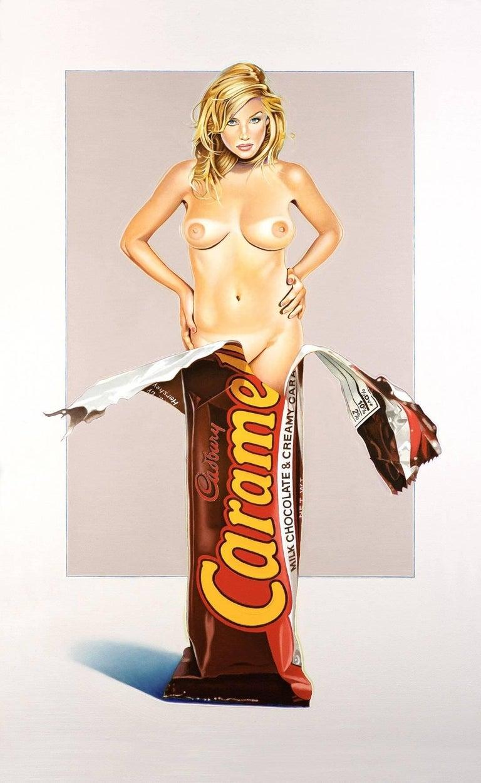Mel Ramos Nude Print - Caramia Caramello, Pop Art, Nude, American Artist, 21st Century