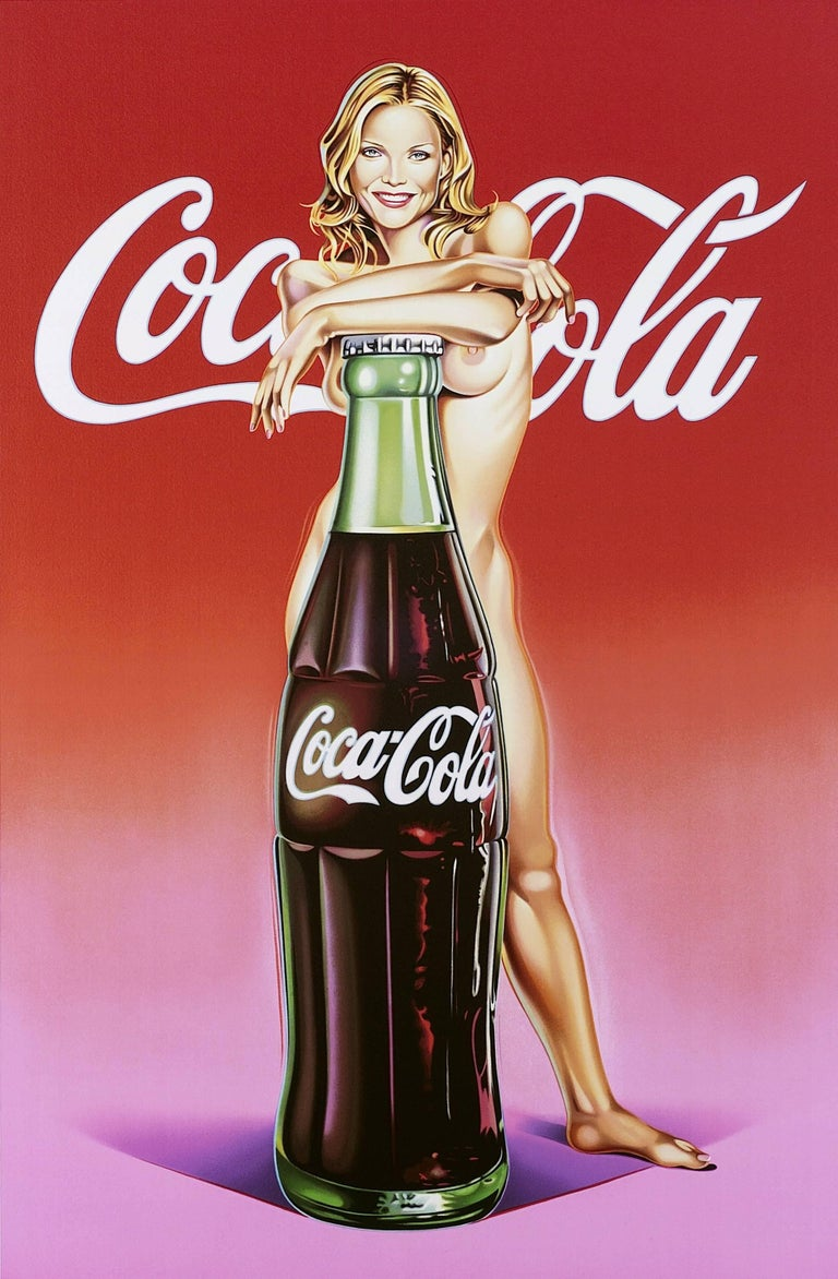 Mel Ramos Figurative Print - Coca-Lola, Nude, Pop Art, Contemporary Art, 21st Century, American Artist