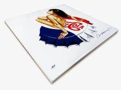 Lola-Cola, Enamel on Steel, Nude, Pop Art, American Art, 21st Century
