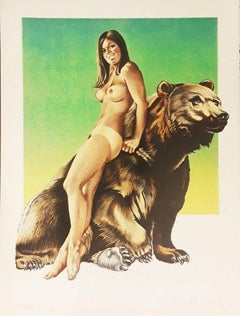 Mel Ramos, Browned Bare, 1970 Lithograph signed and numbered