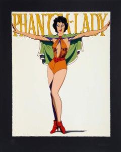 Mel Ramos, Phantom Lady (Black). Screenprint Hand signed and numbered Edition 10