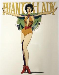 Mel Ramos, Phantom Lady (white). Screen print Proof