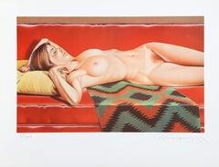 Navajo Nude, Pop Art Lithograph by Mel Ramos
